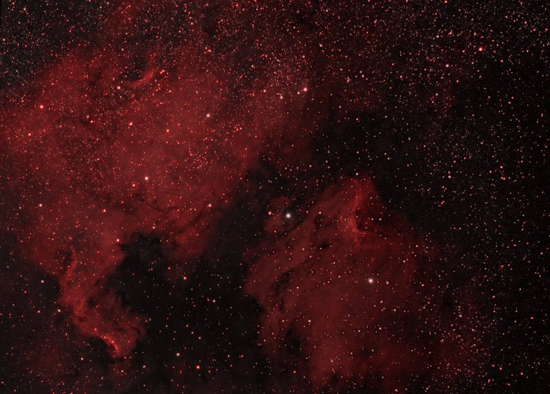 NORTH AMERICAN AND THE PELICAN NEBULAE