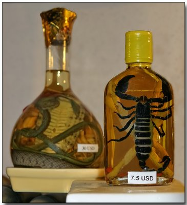 ... and a bug in a bottle