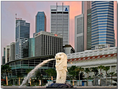 Merlion & Financial District