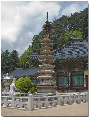Woljeongsa Temple - Nine Story Stone Pagoda