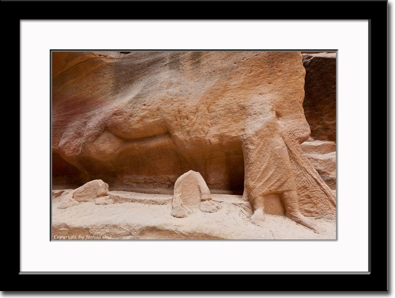 Remains of Carved Camel Caravan