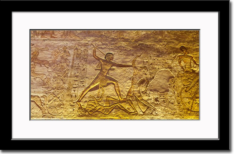 Relief of Ramses II Defeating his Enemies at Battle of Kadesh