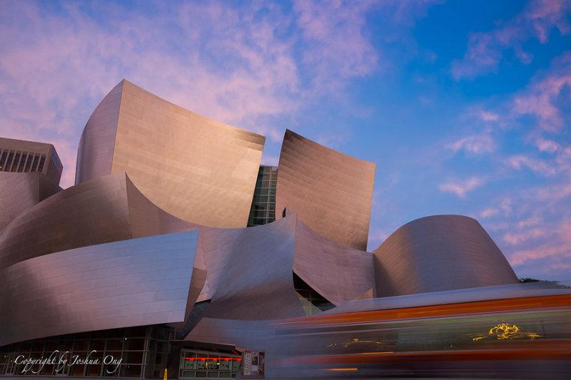 Walt Disney Concert Hall before sunrise