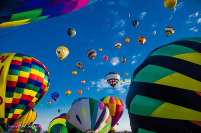 Mass Ascension of Hot Air Balloons - What a View!