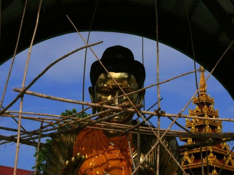 Fixing up buddha.jpg