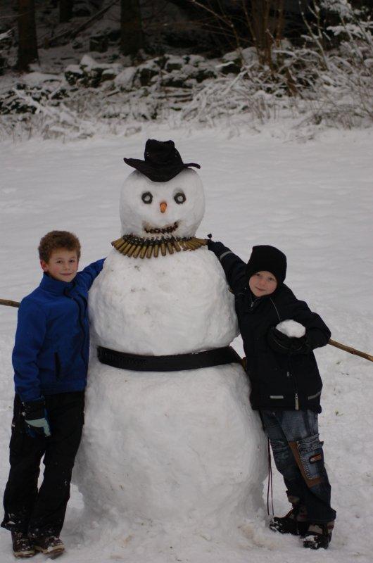 Snowman with my kids
