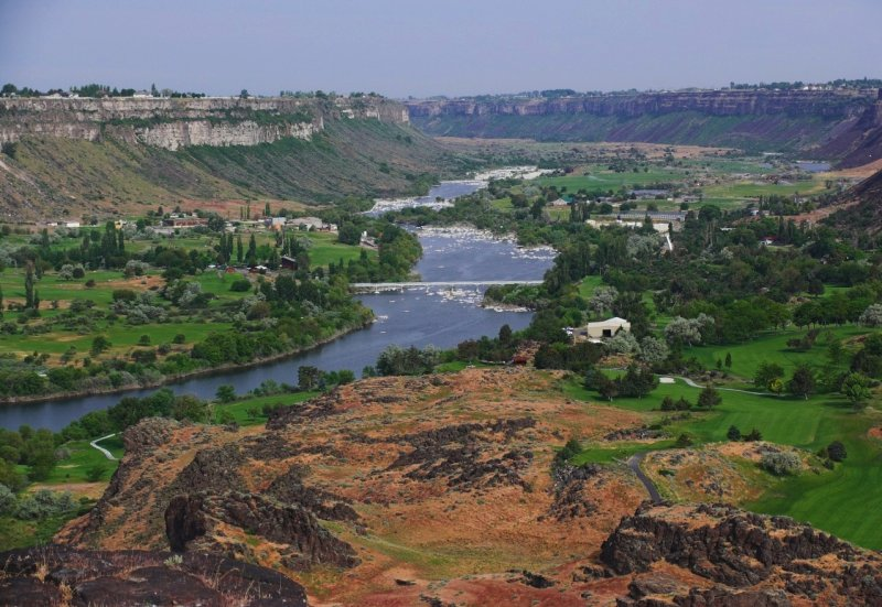 Snake River Canyon from Twin Falls Bridge