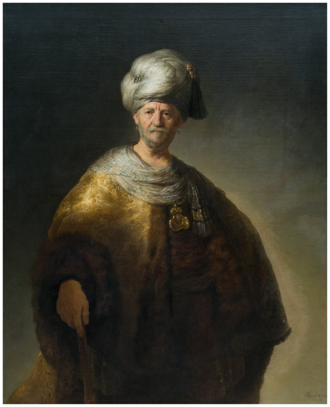 Rembrandts Man in Oriental Costume