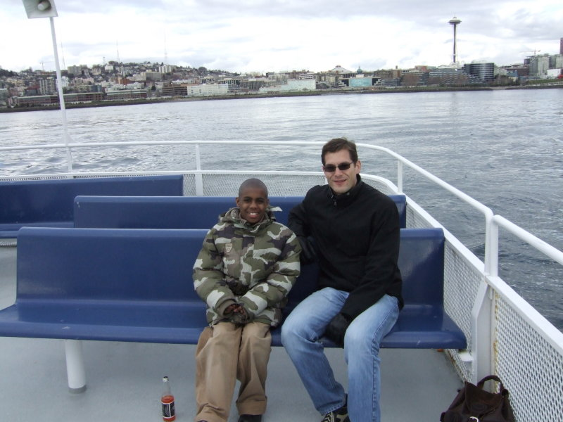 Robert and Me on an BBBSPS Cruise on Elliot Bay