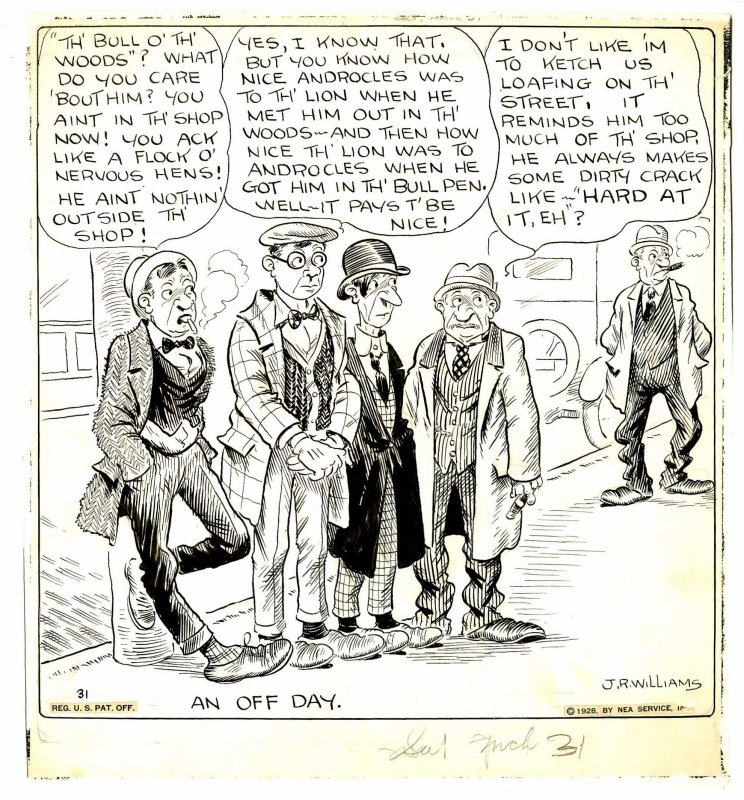Original cartoon (March 31, 1928)