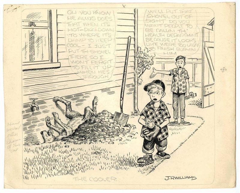 Unfinished original cartoon (undated)