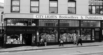 City Lights Bookstore b/w