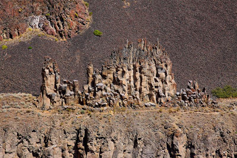 Pinnacles adjacent to the falls