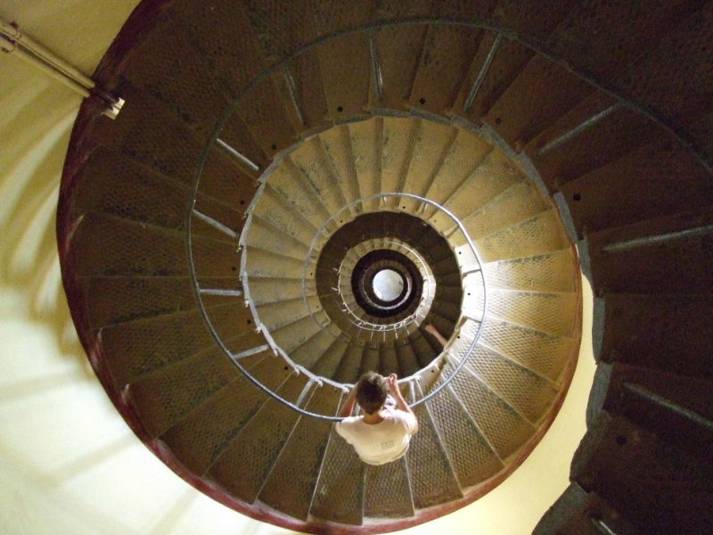 Its a long climb back down the lighthouse; but the climb up was even longer.