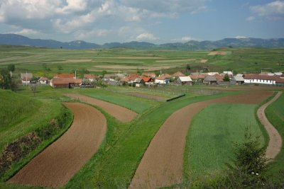 Village in the Csik Basin (from a train)