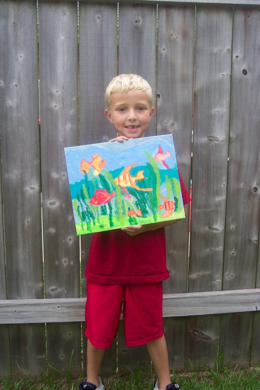 The Fish Painting with Turtle