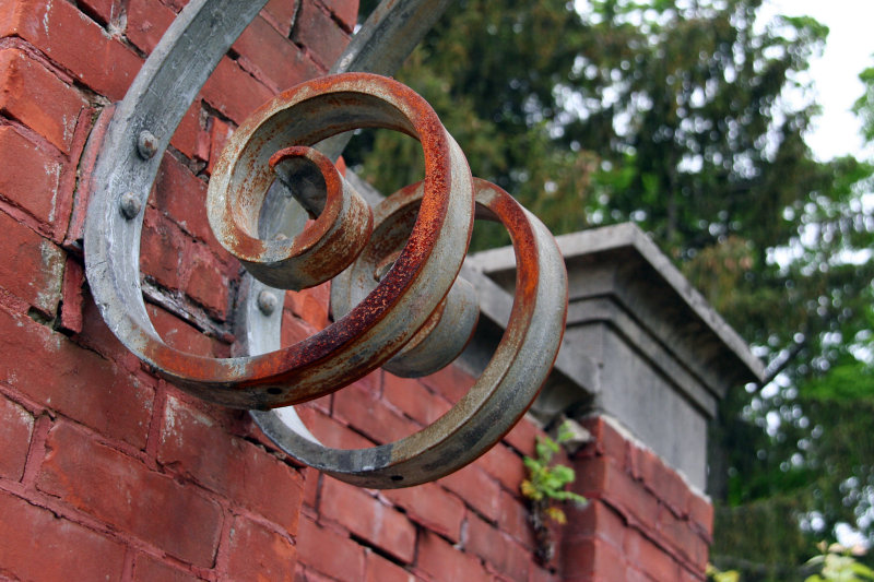 Rusted Metal Arch