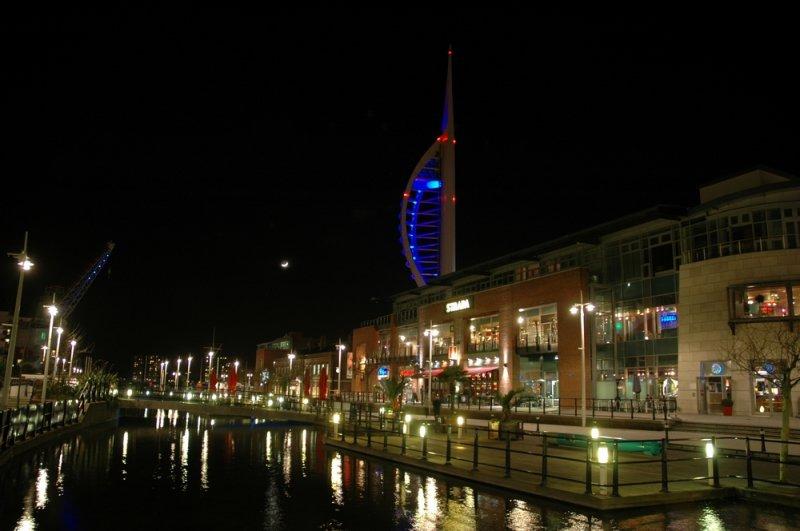 Gunwharf Quay By Night