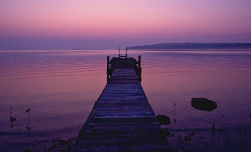 Purple Sunrise and Pier