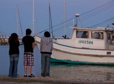 Teenagers at Fulton Marina