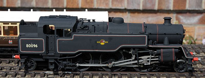 80096. A model of a standard tank locomotive built in 1952 most saw service on the Southern Region of BR