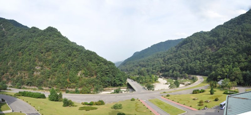 Panoramic view from the Hyangsan Hotel