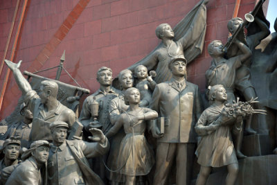Monumental sculptures typical to those erected in other Socialist countries at that time