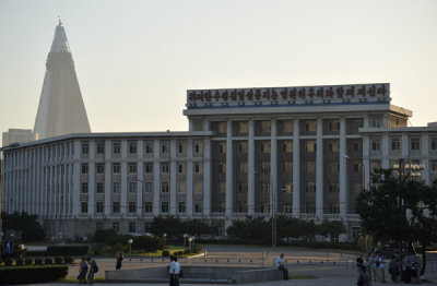 Pyongyang City Hospital across from the Arch of Triumph