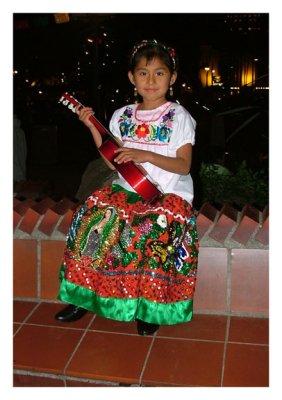 Virgen de Guadalup on the skirt.