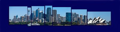 Sydney Harbour panorama collage