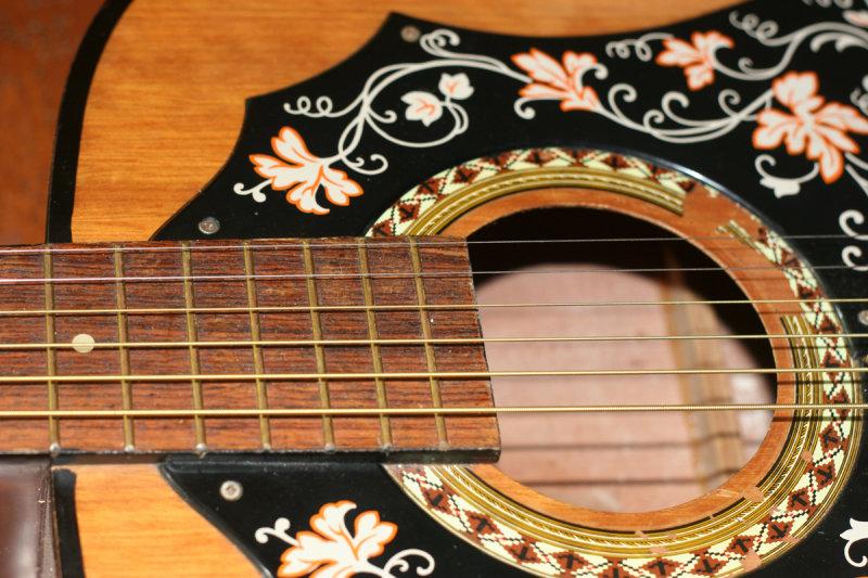 vintage Kay acoustic rosette