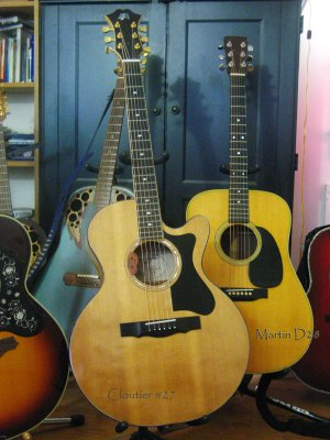 1993 Cloutier  (#27) Guitar  and 1971 Martin D 28 Guitar ©Willa Dios.  All rights reserved.