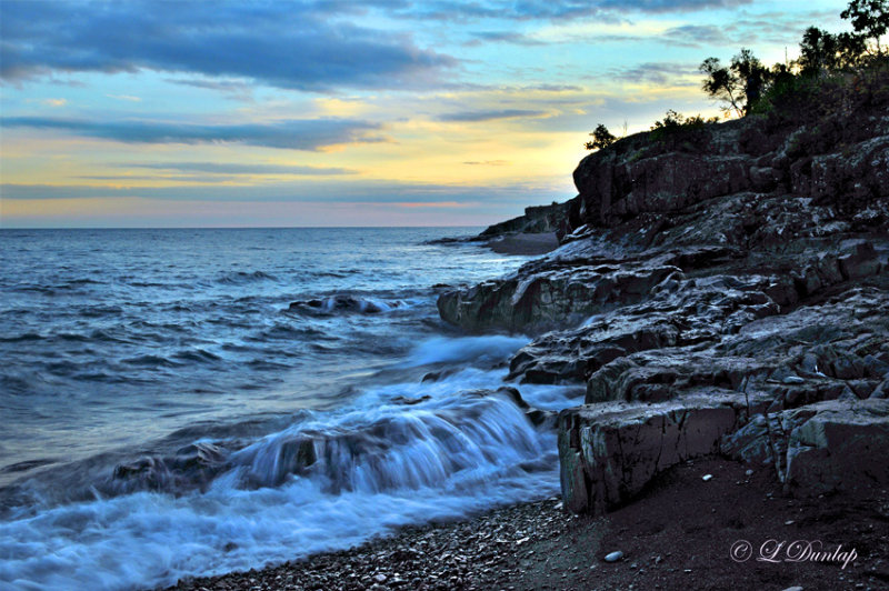 71.3 -  Temperance River State Park:  Sunset Near Mouth Of River