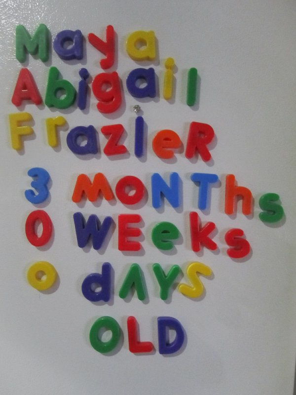 our fridge magnet age counter