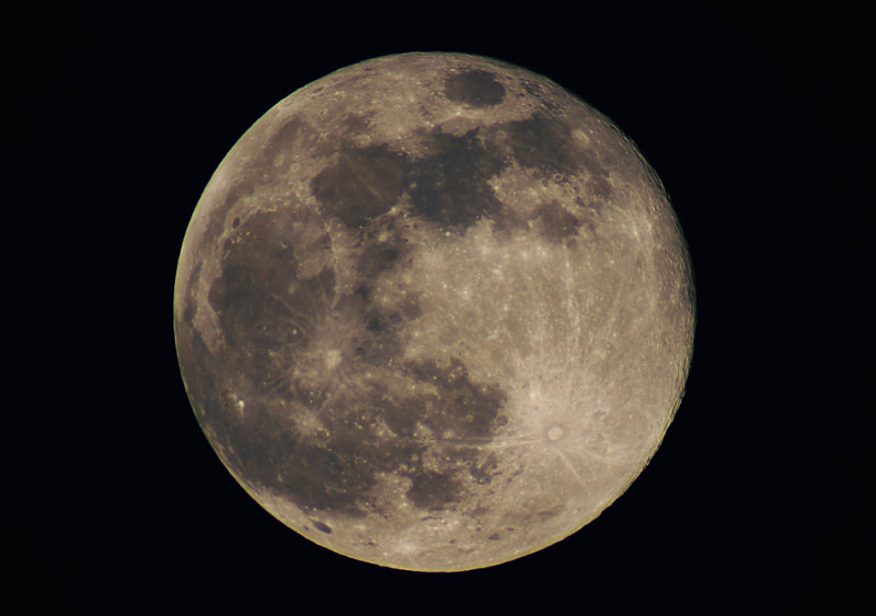 Long Night Moon (Telescopic View)