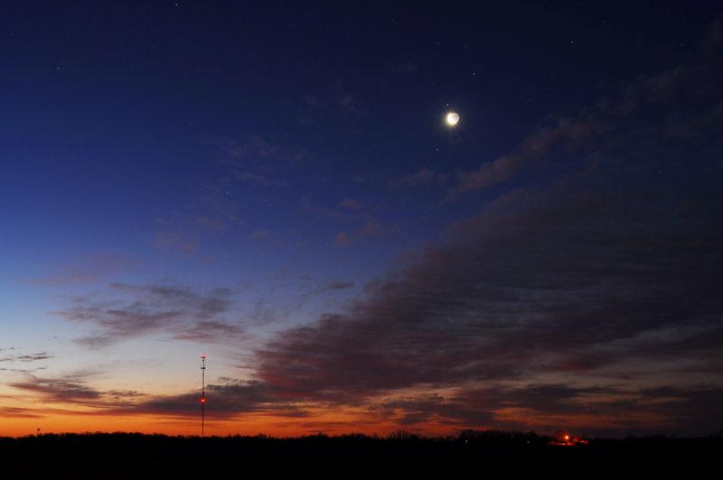 Moon & Antares