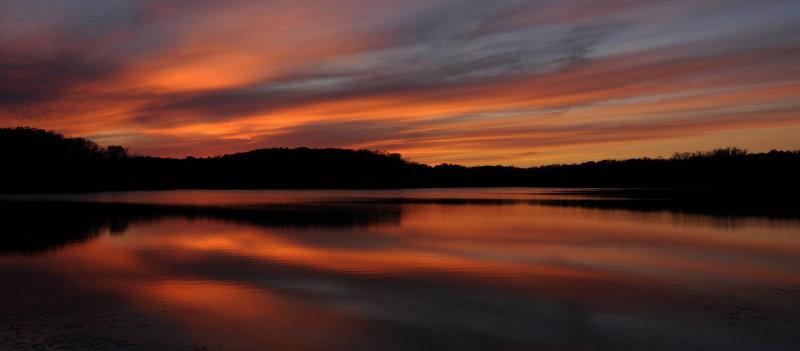 Sunset at Linn Creek Reservoir