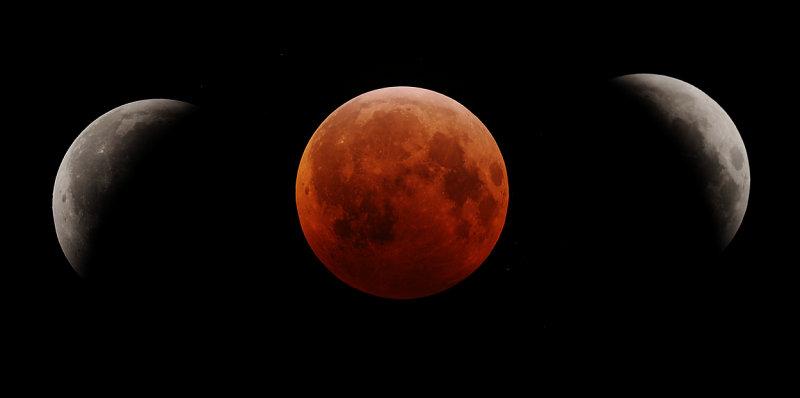 Solstice Lunar Eclipse Montage