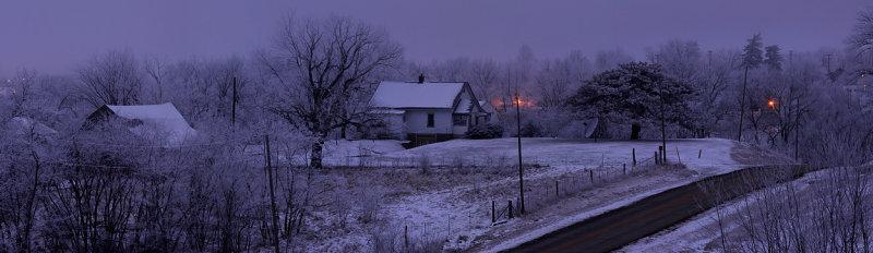 Frozen Fog at Twilight