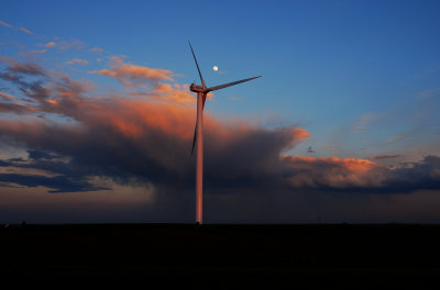 Storm Clouds over Wind Farm