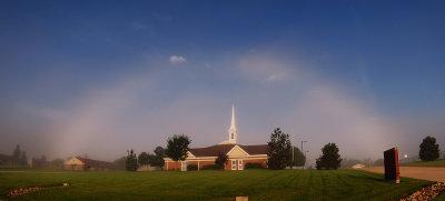 Fogbow over Church