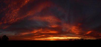 Hall Bottom Sunset Panorama