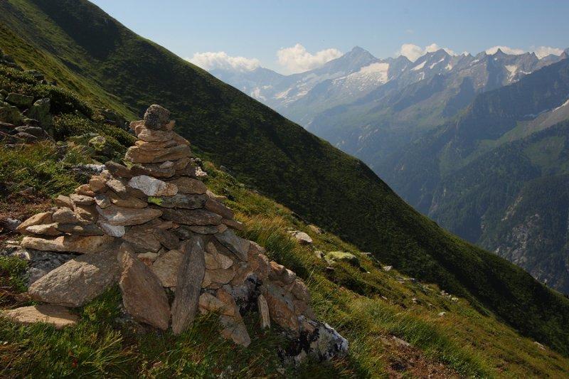A rock cairn on Filzenkogel