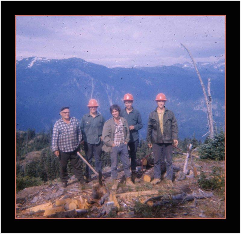 Hart Haase & Crew, taken from Yale Lookout, 1971