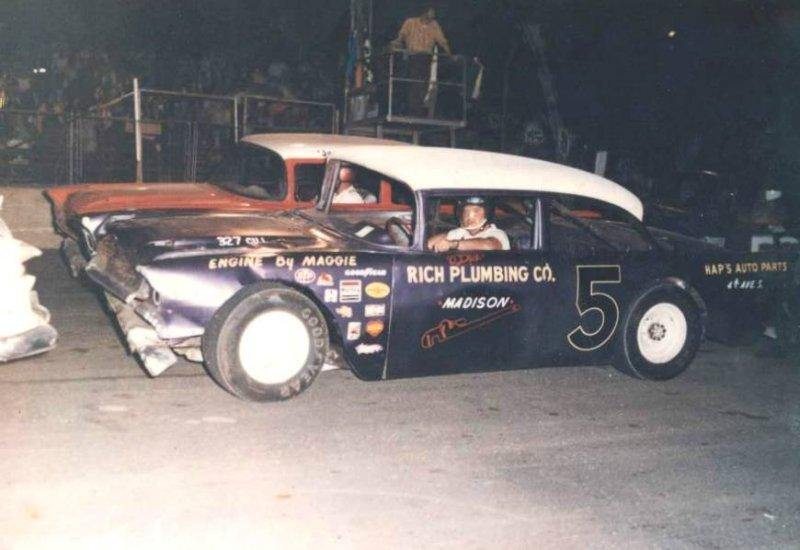 Paul Fatboy Ryman in the 5 car
