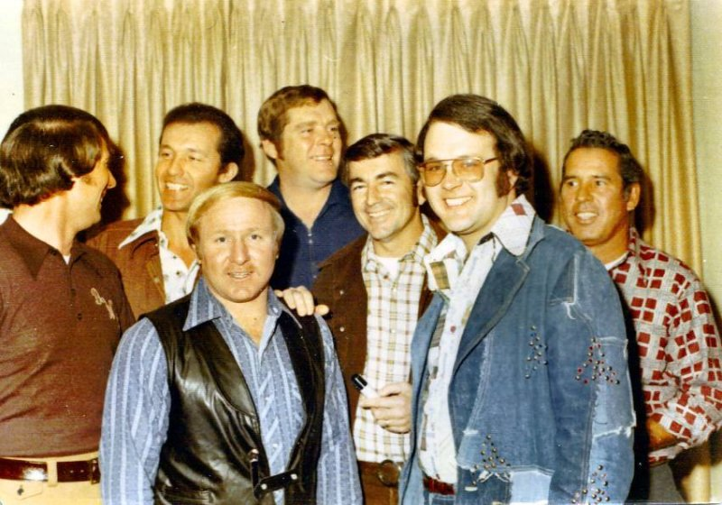 Darrell Waltrip, Richard Petty, Cale Yarbrough, Buddy Baker, Bobby Allison, Jim Donoho and David Pearson