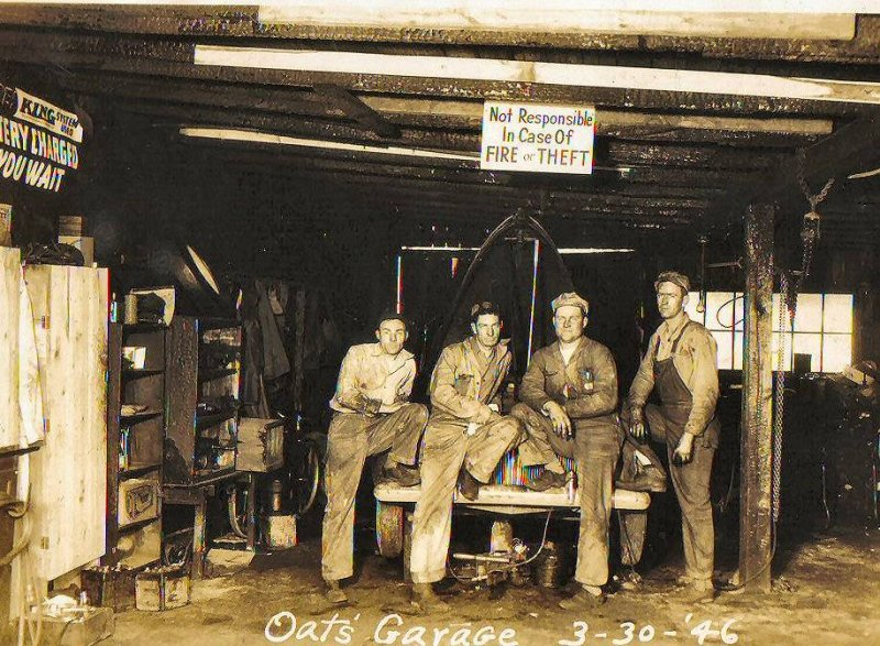 Pappy Oats Garage 1946