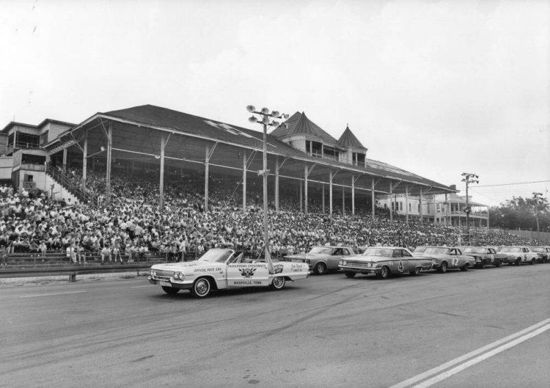 Nashville 400 starting grid 1963