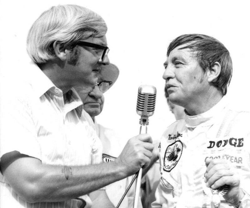1970 420 Joe Carver and Bobby Isaac victory lane.