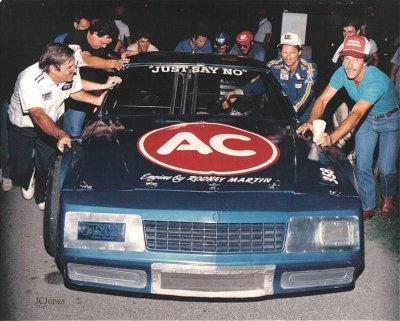 Dale Earnhardt in the TFR #80 Chevrolet